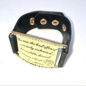 Disney 2016- Beauty and the Beast Quoted Cuff